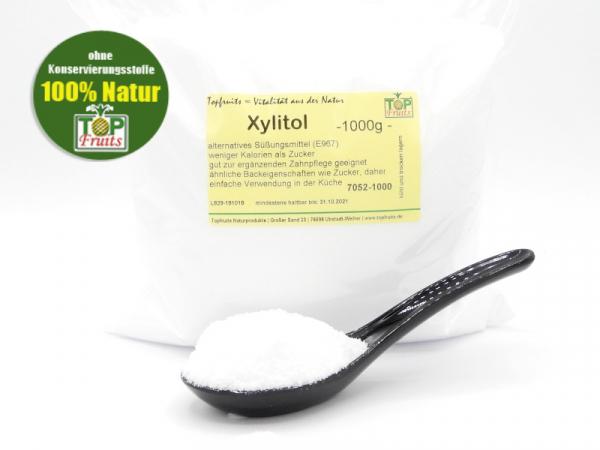 Xylitol (Xylit), feinkristallin, alternatives Süssungsmittel und ergänzende Zahnpflege
