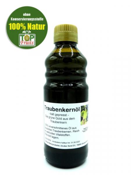 Traubenkernöl, kaltgepresst - 250ml - Flasche