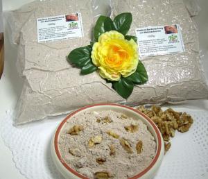 Backmischung - 1000g - für Vital-Nussbrot - Vollkorn mit Natursauerteig, Traubenkernmehl und Walnüssen