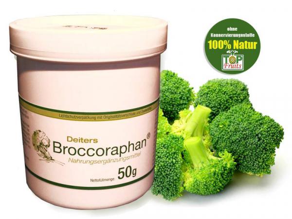 Broccoraphan®, 50g gefriergetrocknetes Pulver aus Brokkolisprossen, definierter Sulforaphangehalt