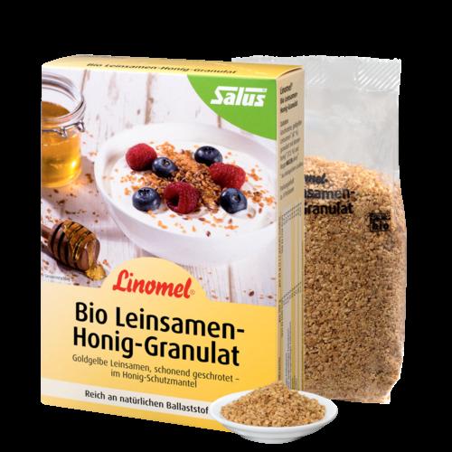 Linomel® Flügge 250 g, bio kbA - Leinsamen-Honig-Granulat nach Johanna Budwig
